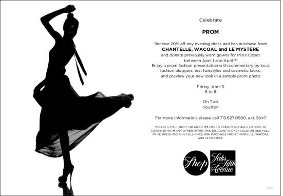 Saks Prom 2013 Evite-Mia's Closet