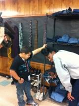 Mia's Closet stops by Las Americas to help kids inneed