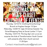 Volunteer Opportunities December 2014: Christmas with Mia's Closet!