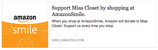 Amazon Smile Mia's Closet